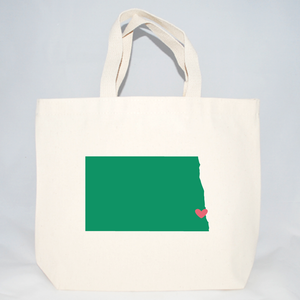 Medium North Dakota tote bags for wedding hotel guests