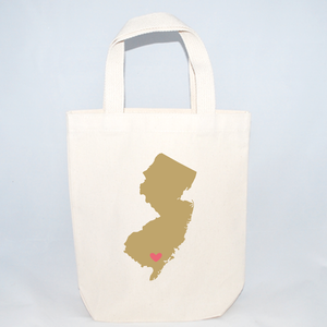 Small New Jersey tote bags for wedding guests