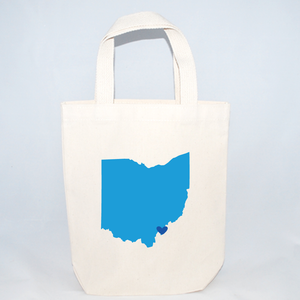 Ohio tote bags for wedding guests.