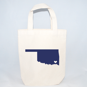Small Oklahoma tote bags for gift packaging