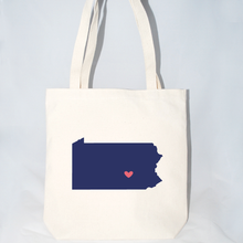 Load image into Gallery viewer, Pennsylvania inspired beach tote bags