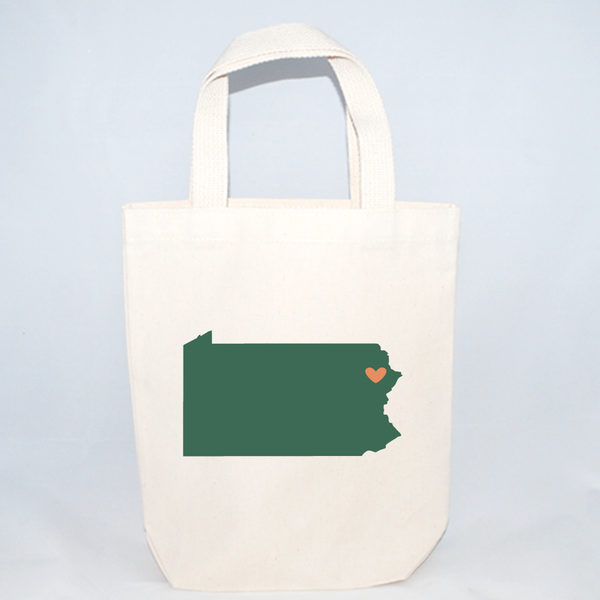 Small Pennsylvania tote bags for wedding guests