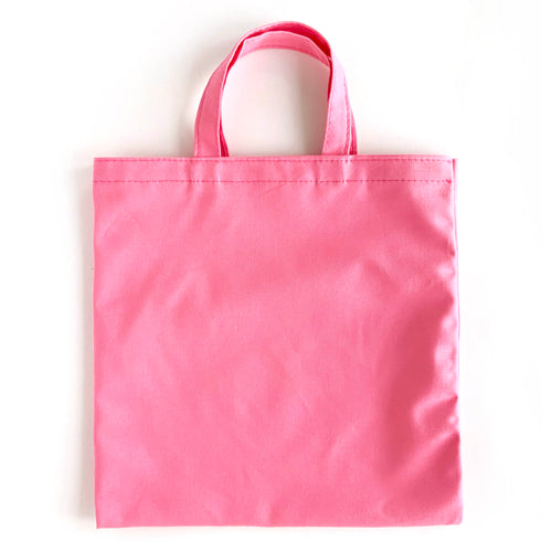 flat pink tote bags for DIY weddings