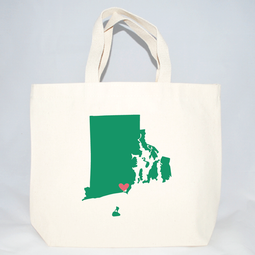 rhode island medium welcome tote bags