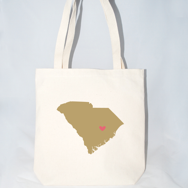 Large South Carolina Tote Bags