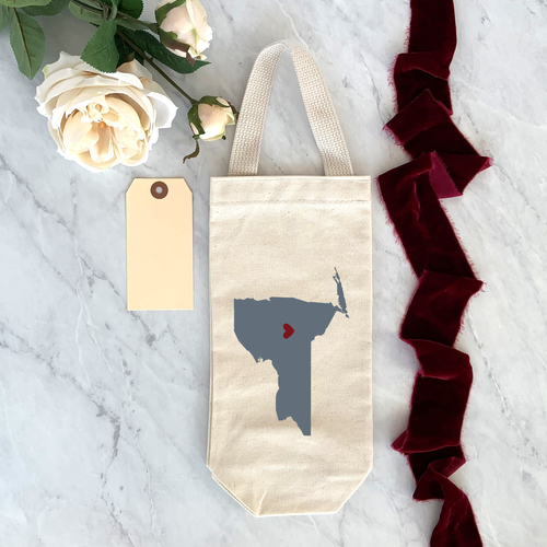 State/Country Single Bottle Wine Bag