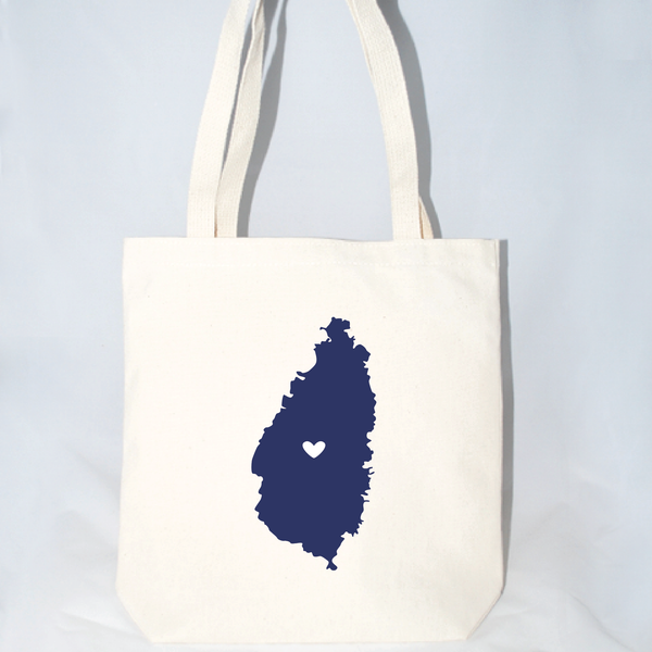 large screen printed st lucia tote for wedding parties