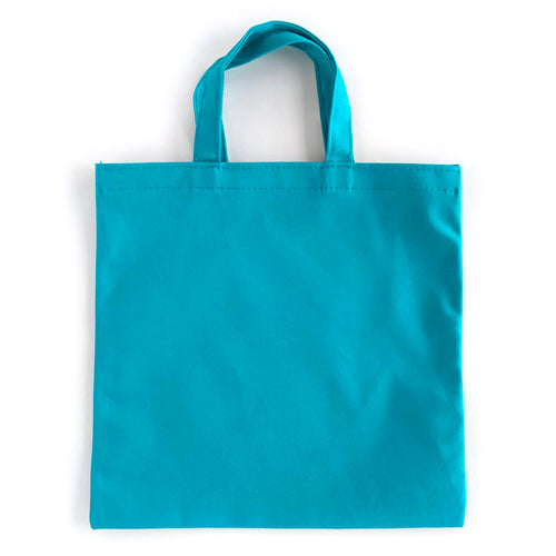 teal welcome bags for DIY gifts