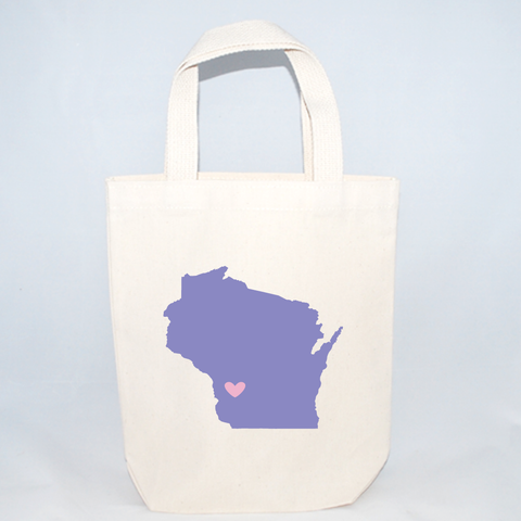 Wisconsin tote bags for wedding guests