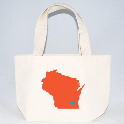 Wisconsin xs tote bag for wedding favors.