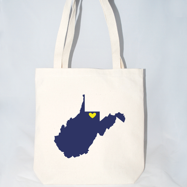 Large West Virginia Welcome Totes