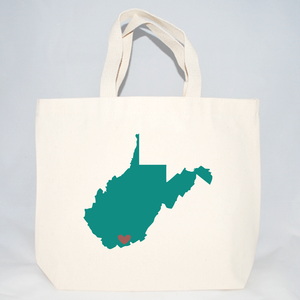 West Virginia Welcome Totes - Medium