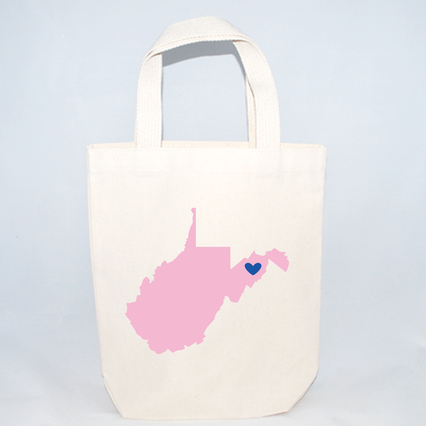 Small West Virginia Welcome Totes
