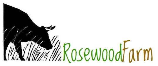 Rosewood Farm Logo - cow and grass