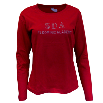 Long Sleeve T-Shirt w/ Rhinestones (4 Colors Available)