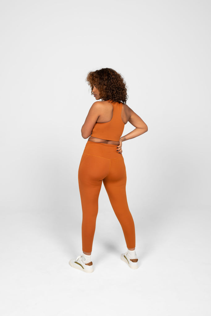 The Compressive High Rise Leggings - Trail - PLUS