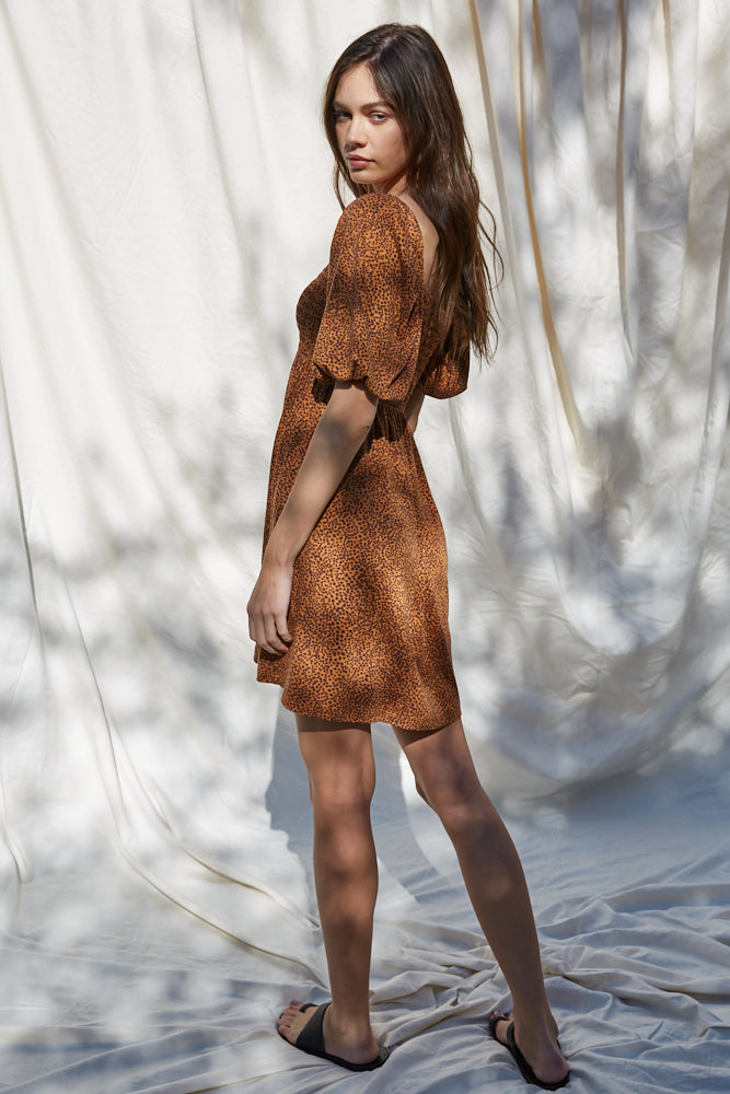 The Reghan Dress - Brown