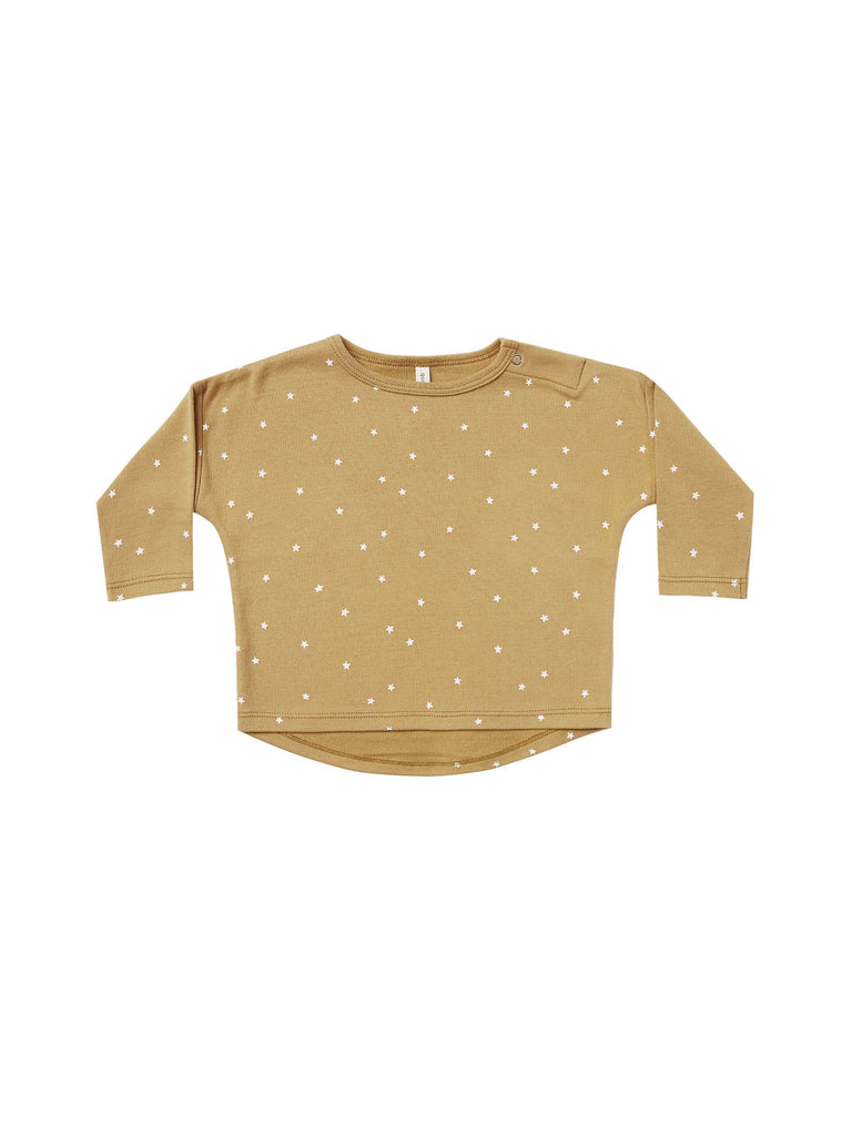 The Long Sleeve Tee by Quincy Mae - Gold