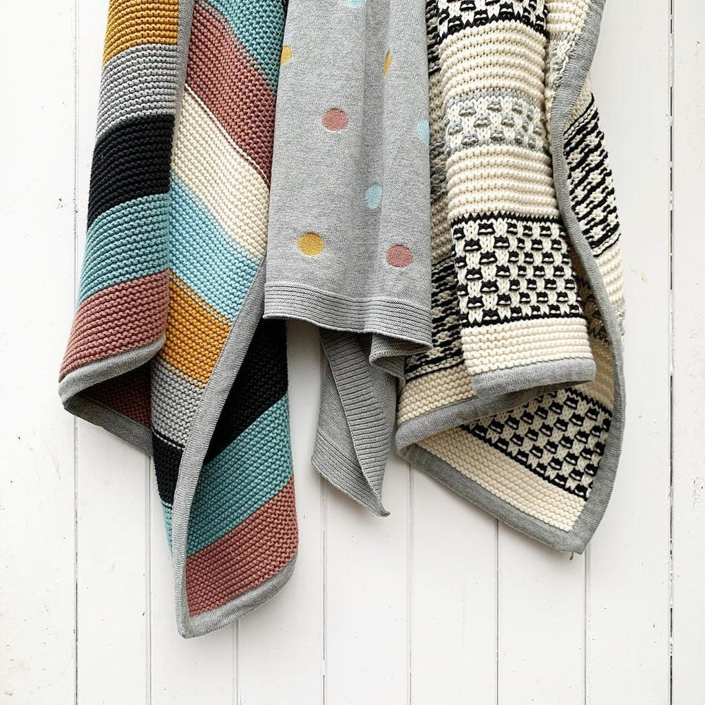 The Textured Organic Stripe Blanket