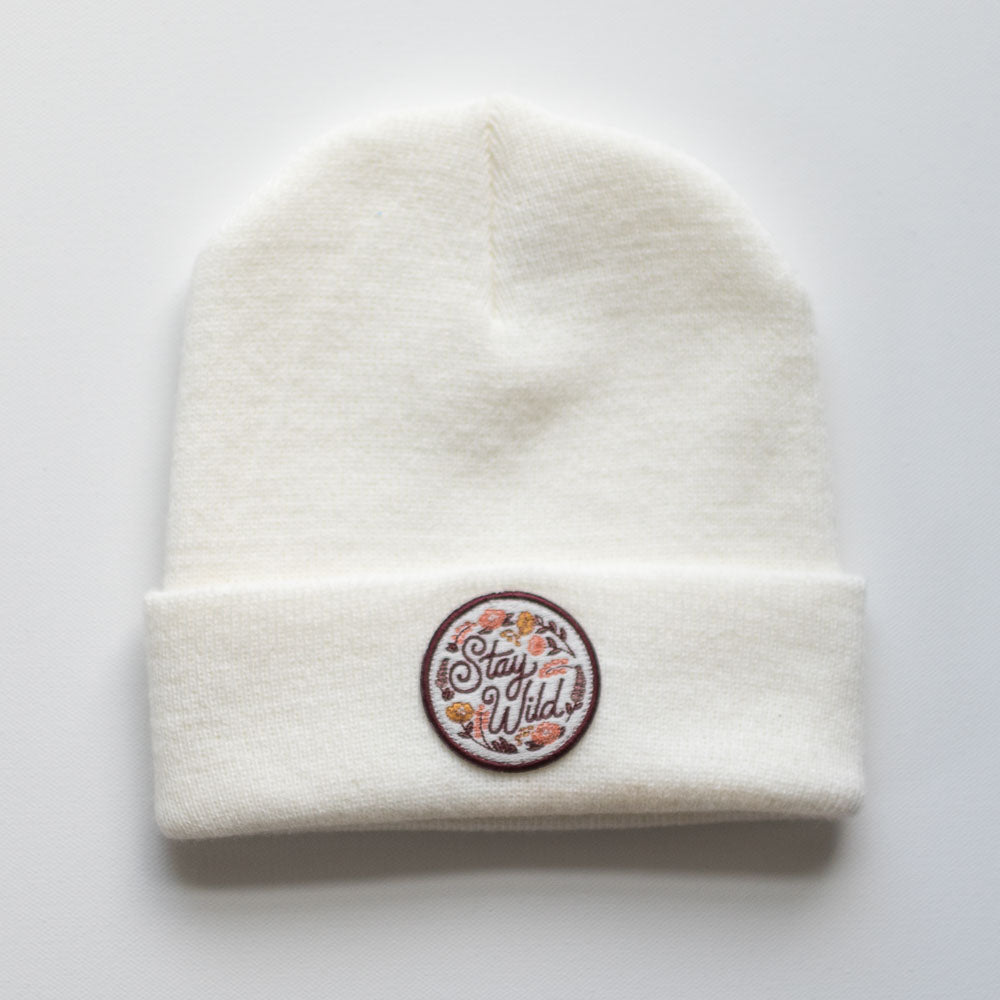 The Stay Wild Ivory Beanie - ADULT