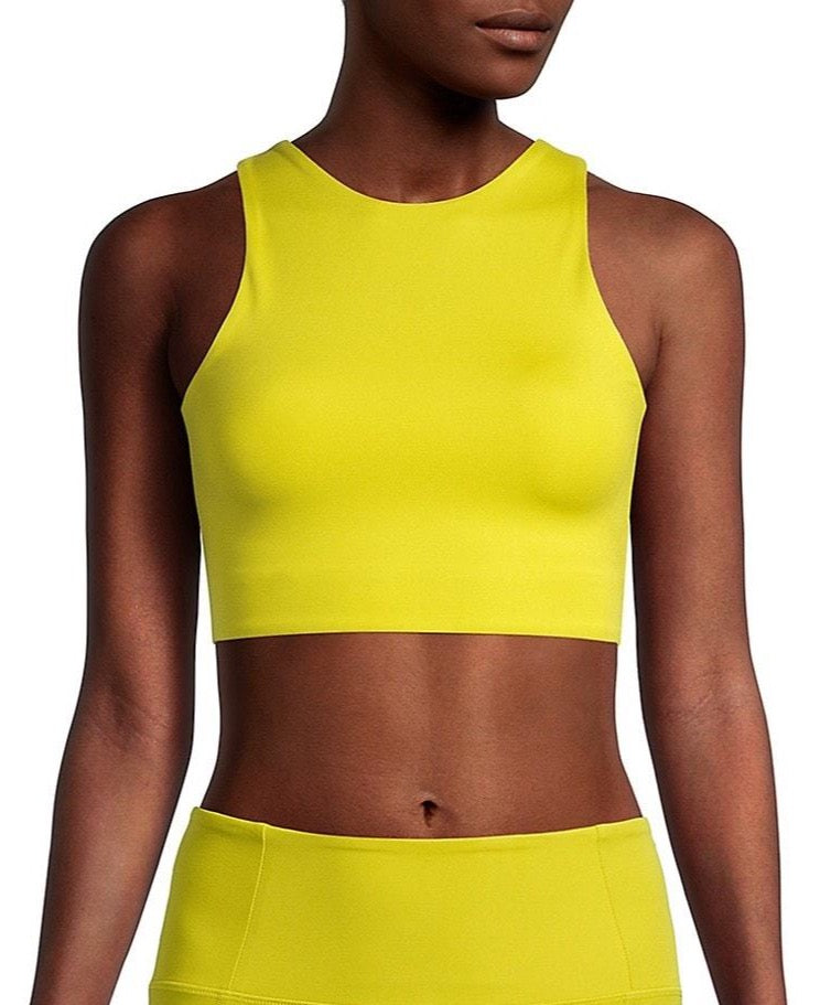 The Dylan Bra by Girlfriend Collective- Chartreuse - PLUS