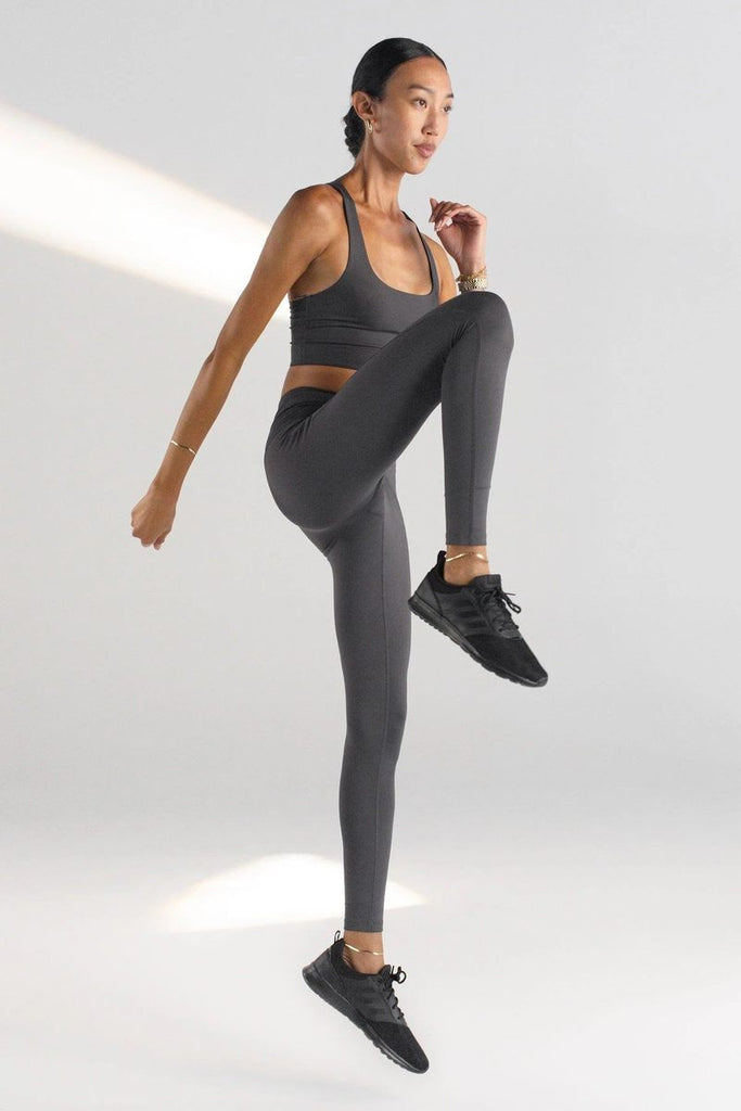 The Compressive High Rise Legging - Moon - PLUS