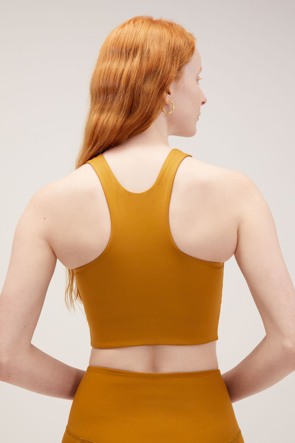 The Dylan Bra by Girlfriend Collective- Saddle - PLUS