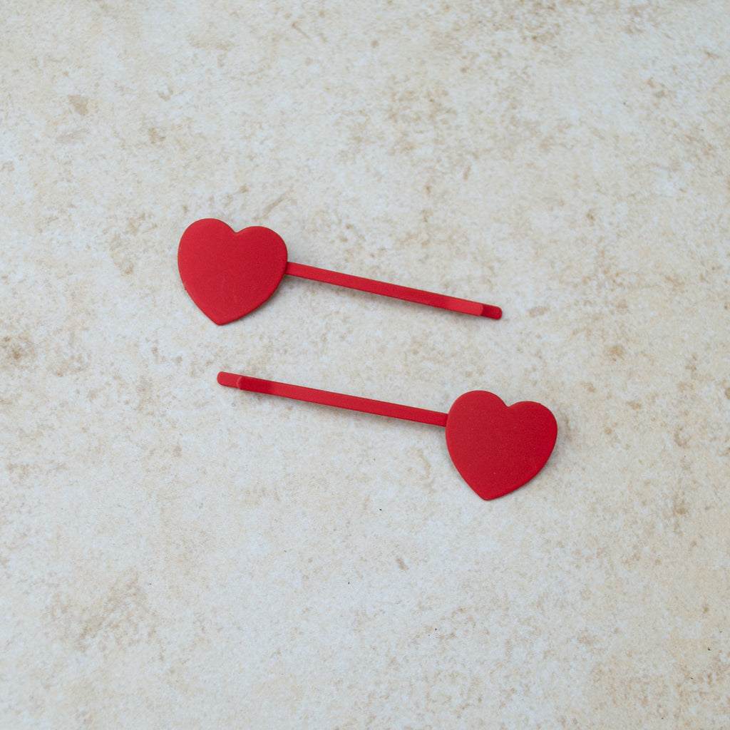The Hearts Hair Pin - Various Colours
