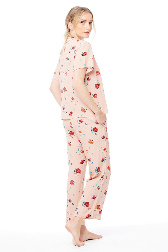 The Pajama Set by Saltwater Luxe - Blush Floral