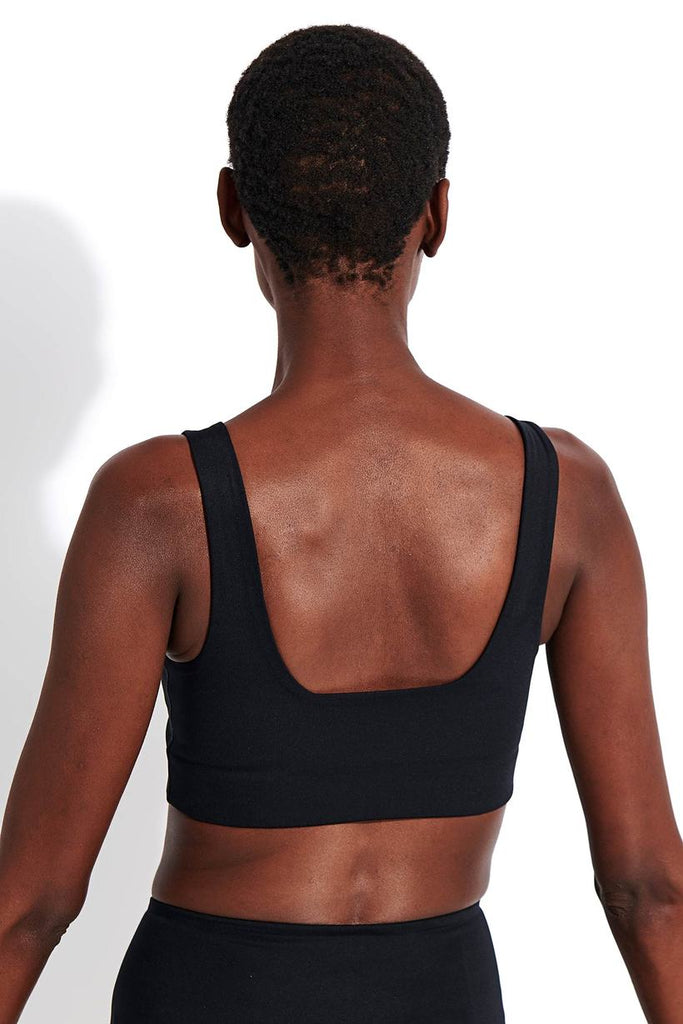 The Tommy Bra by Girlfriend Collective - Black - PLUS