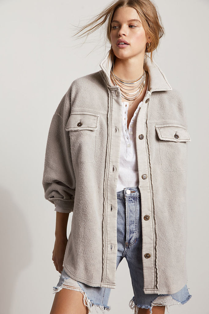 The Ruby Jacket by Free People - Stone
