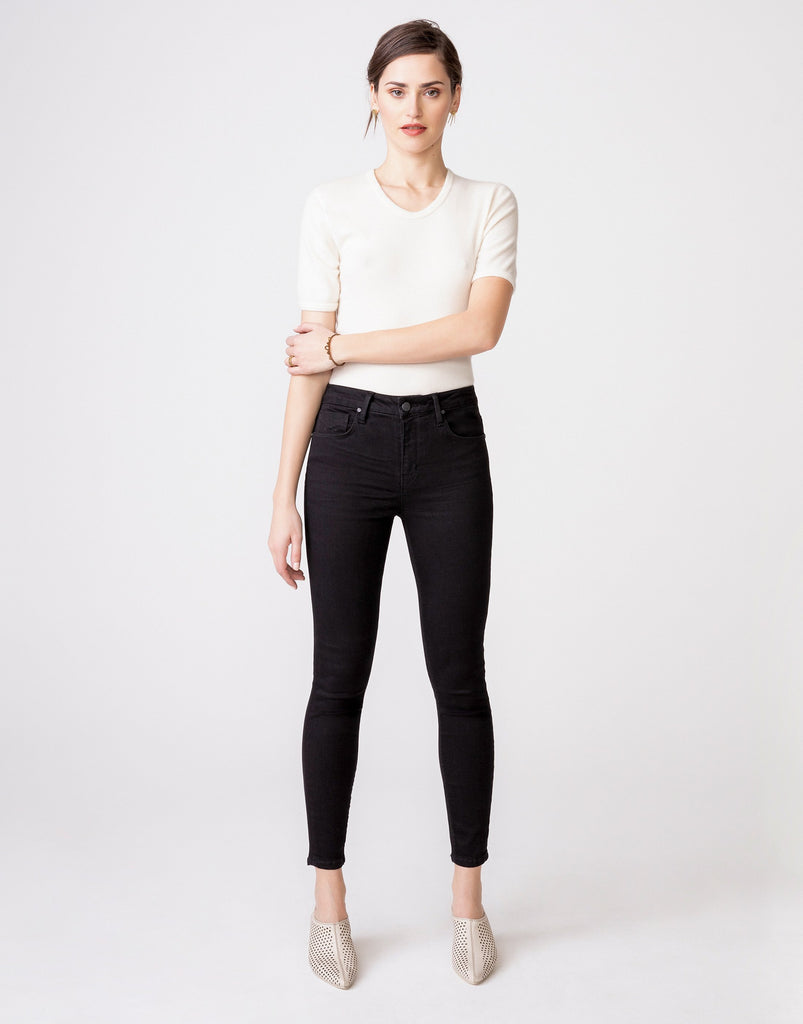 The Olivia High Rise Skinny - Noir