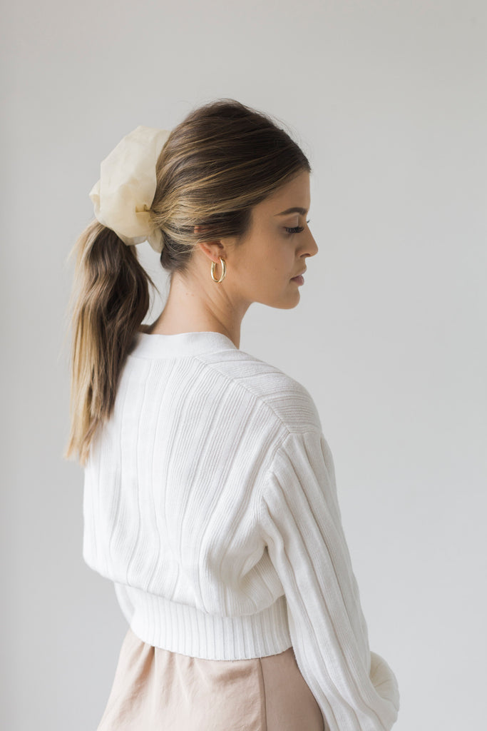 The Oversized Scrunchie - Rachel Beige