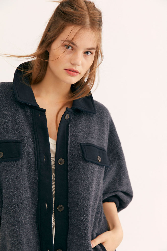 The Ruby Jacket by Free People - Washed Black