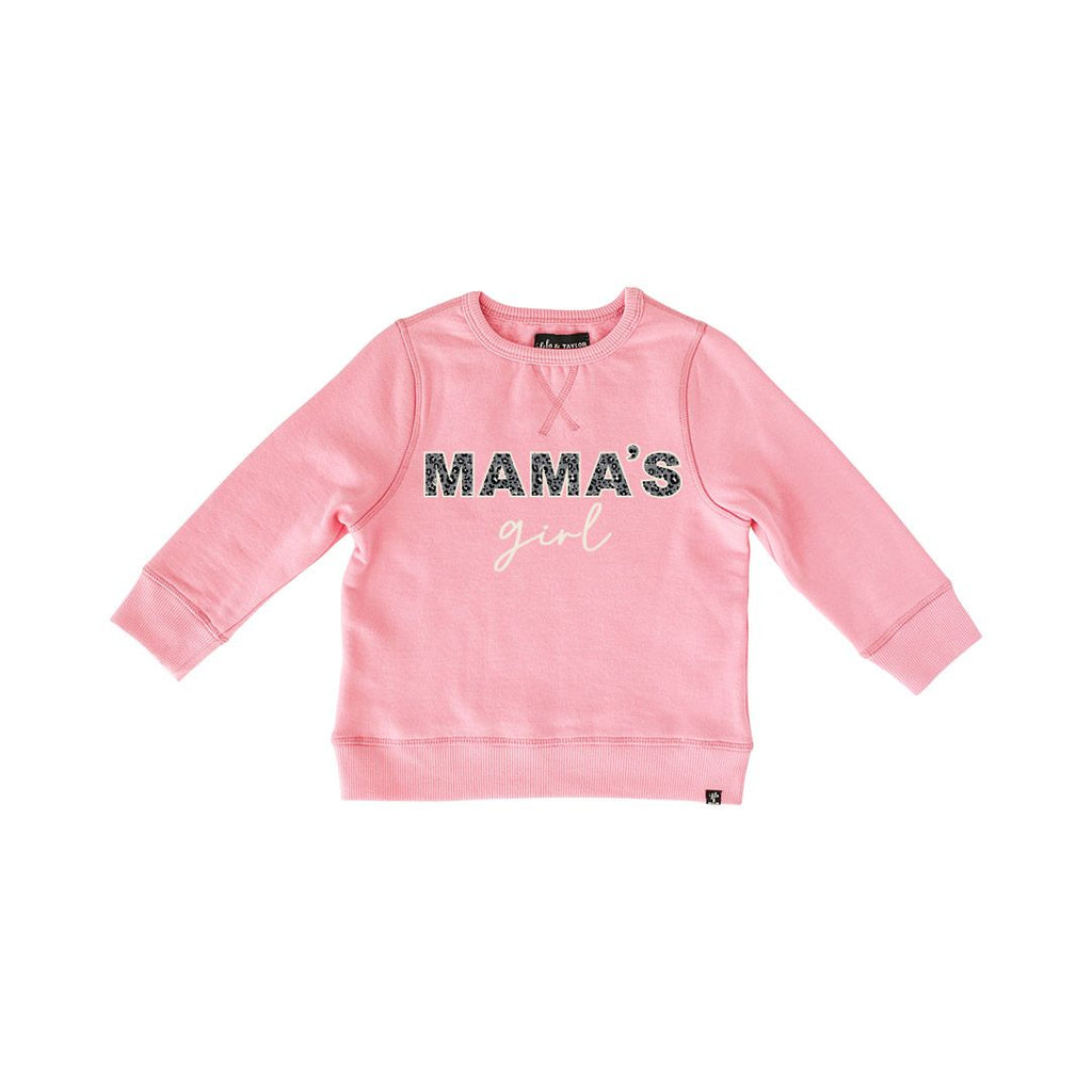 The Mama's Girl Sweatshirt - Wild Rose + Leopard