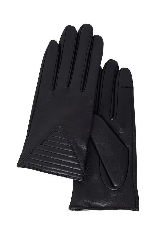The Betsy Leather Gloves - Black