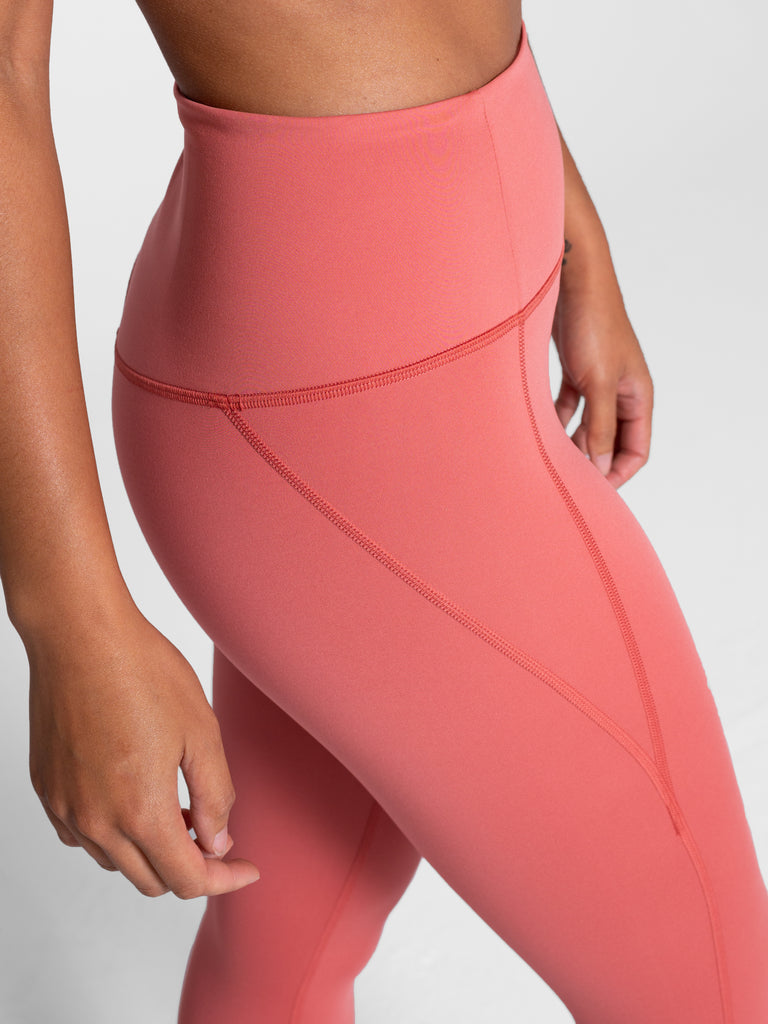 The Compressive High Rise Leggings - PLUS SIZE - Clay