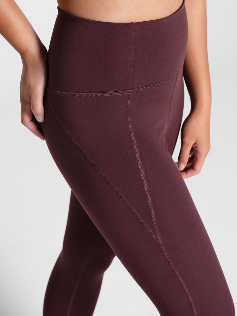 The Compressive High Rise Leggings - PLUS SIZE - Cocoa