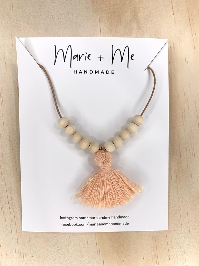 The KIDS Tassel Necklace by Marie + Me - Various