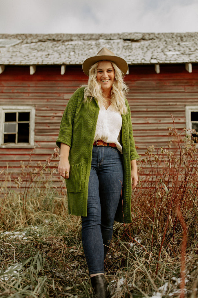 The Erinn Cardigan - Olive
