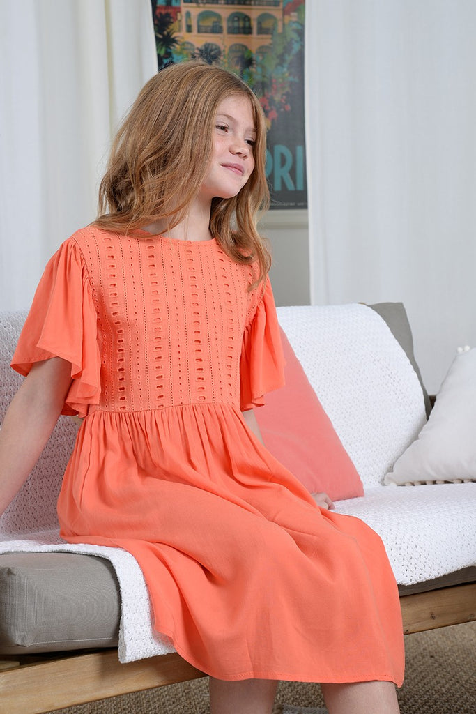 The Gaia Dress - Coral - KIDS