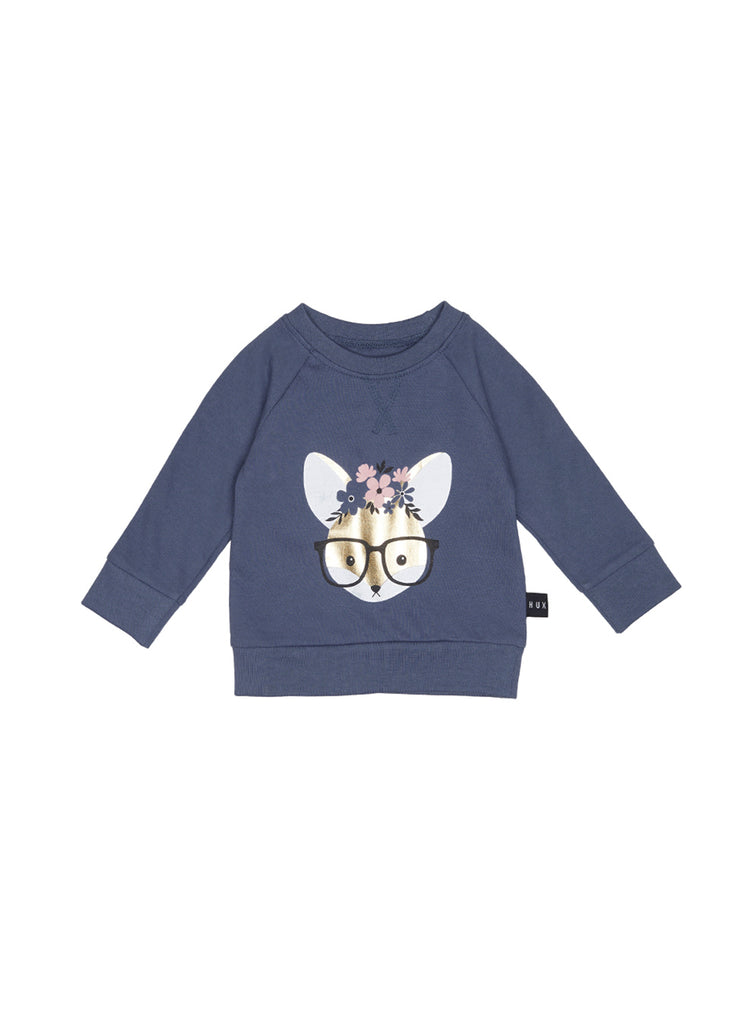 The Flower Fox Sweatshirt - Baby