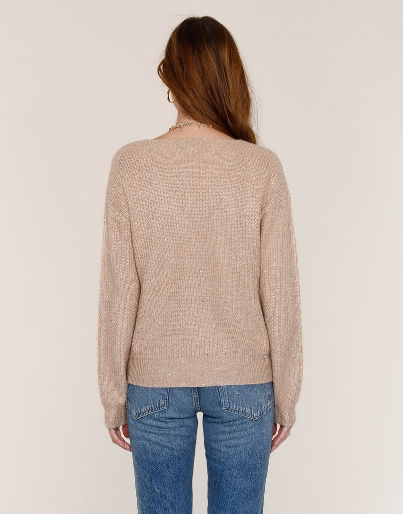 The Zeva Sweater by Heartloom - Champagne