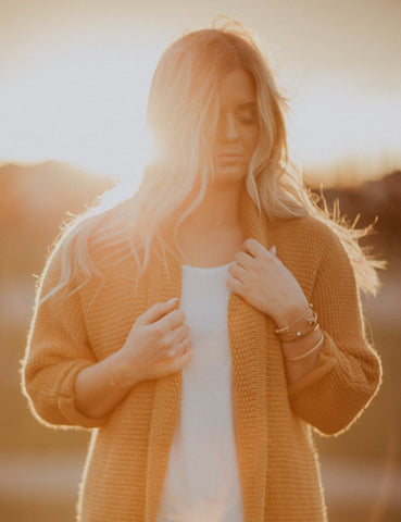 The Erinn Cardigan - Mustard