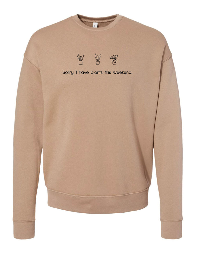 The Plants Sweatshirt - Tan - PLUS