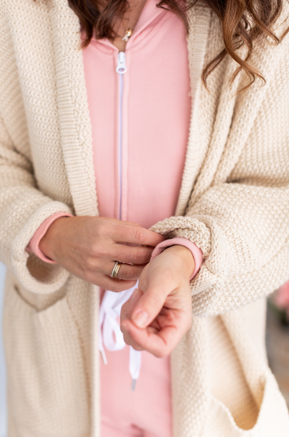 The JH Erinn Boyfriend Cardigan - Oat Milk