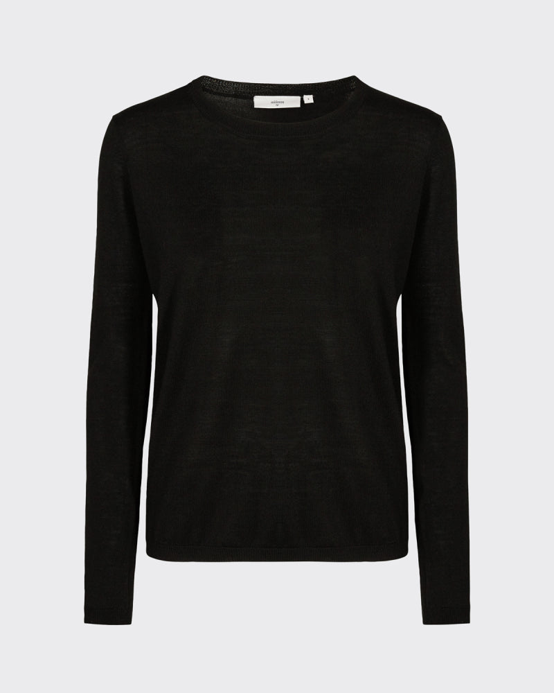 The Italina Sweater by Minimum - Black