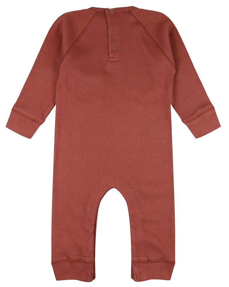 The Rib Romper - Brick
