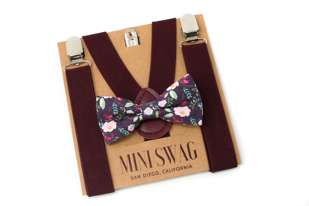 The Baby Bow Tie + Suspender Set- Various Colours