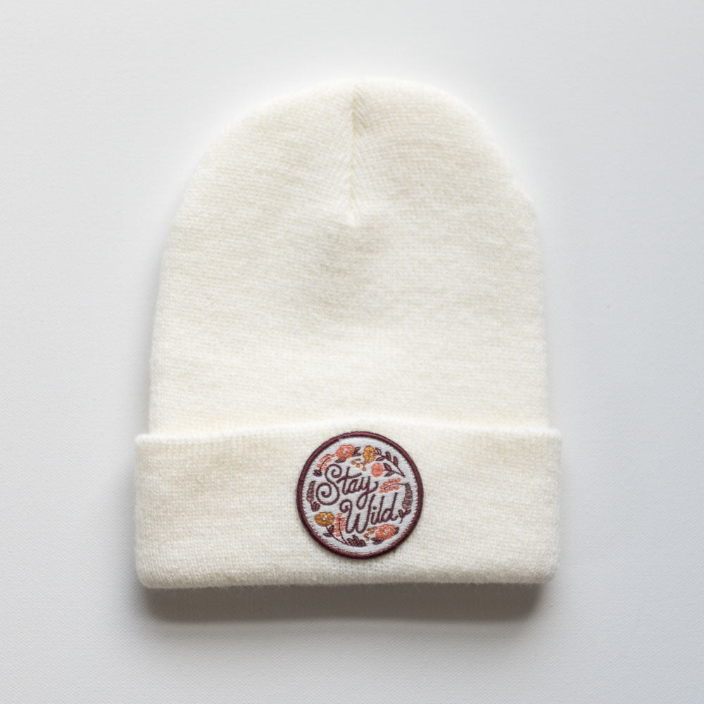 The Stay Wild Ivory Beanie - TODDLER